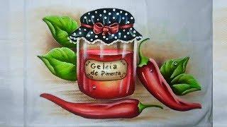 Pintando Geleia de Pimenta e pimentas