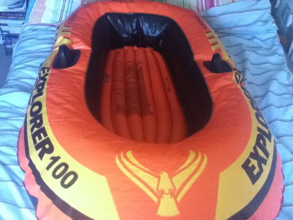 Getting Into My Inflatable Boat Intex Explorer 100 Youtube