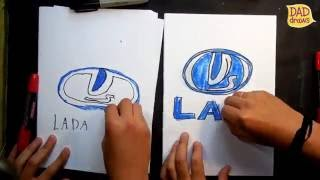 How to draw LADA logo / AUTO LOGO car