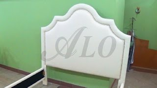 HOW TO UPHOLSTER A HEADBOARD WITH DECORATIVE NAILS - ALO Upholstery