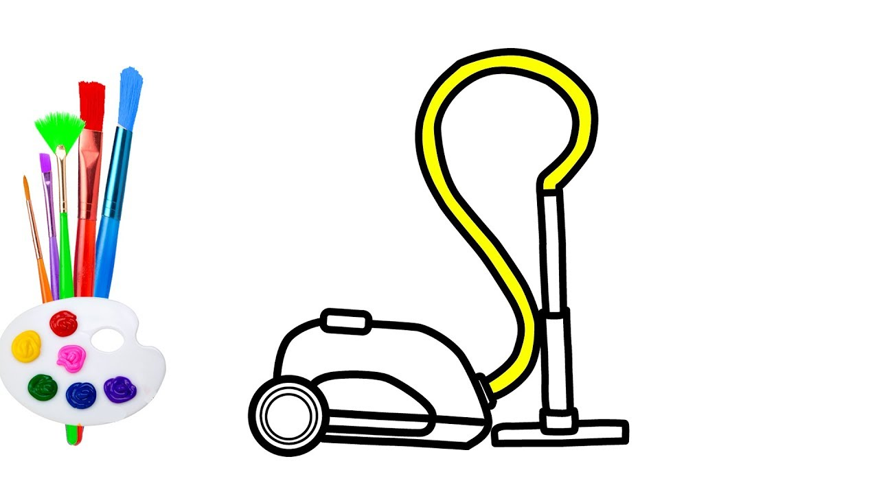 How to draw Vacuum Cleaner | Coloring Pages for kids - YouTube Vacuum Coloring Pages