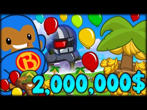 BANANA FARMS ROAD TO 2,000,000$ IN BLOONS TD 5!! THIS GAME I