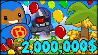 BANANA FARMS ROAD TO 2,000,000$ IN BLOONS TD 5!! THIS GAME IS SO MUCH FUN!! (Bloons Tower Defense 5)