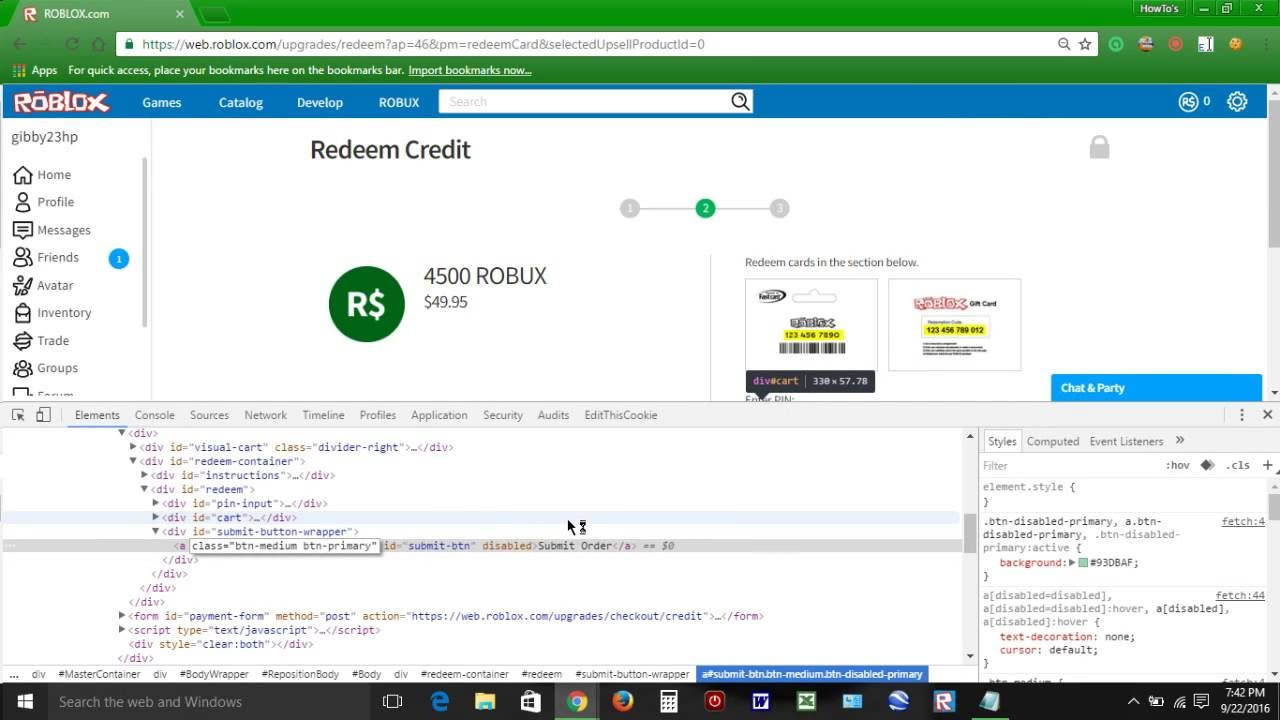 How To Get Free Robux On Roblox September 23 2016 Youtube