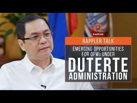 Rappler Talk: Emerging opportunities for OFWs under Duterte administration