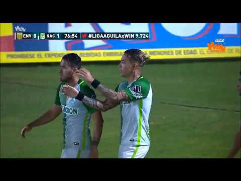 Envigado 0 - 2 Nacional. Fecha 13 Liga Aguila 2017 II Win Sports