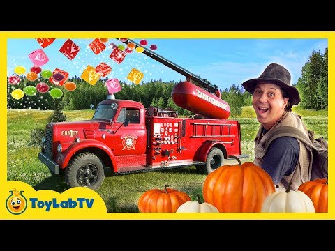 Thumbnail: GIANT CANDY CANNON! Halloween Pumpkin Patch Trick-or-Treat Kids Activities & Surprise Toys Video