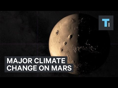 Major climate change on Mars