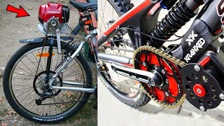 Bicycle Engine to Make MotorCycle + 4 BIKE GADGETS INVENTION | You Can Buy in Online Store