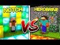 NOTCH HOUSE VS HEROBRINE HOUSE In Minecraft mp3