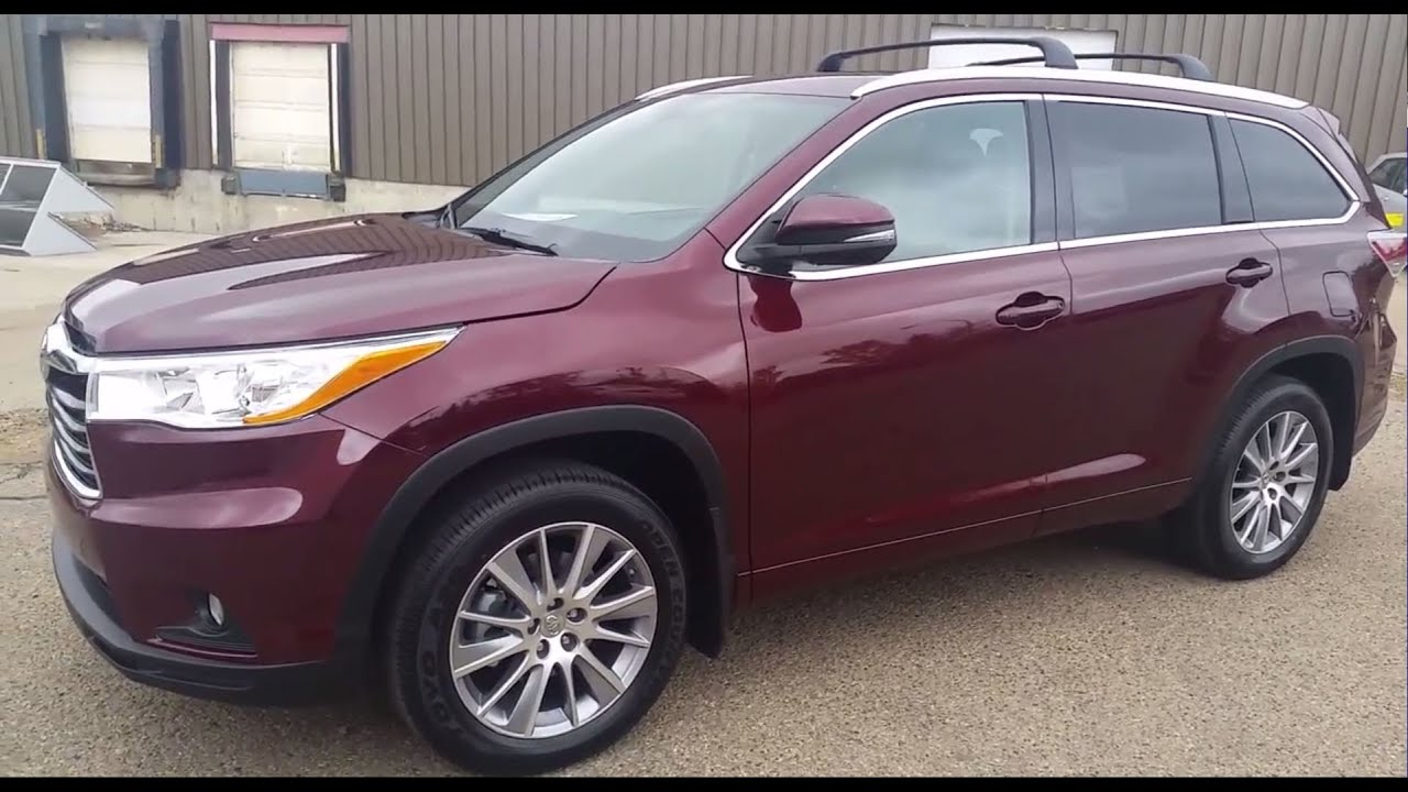 2016 Toyota Highlander Xle Awd Exterior And Interior With Review Of Features