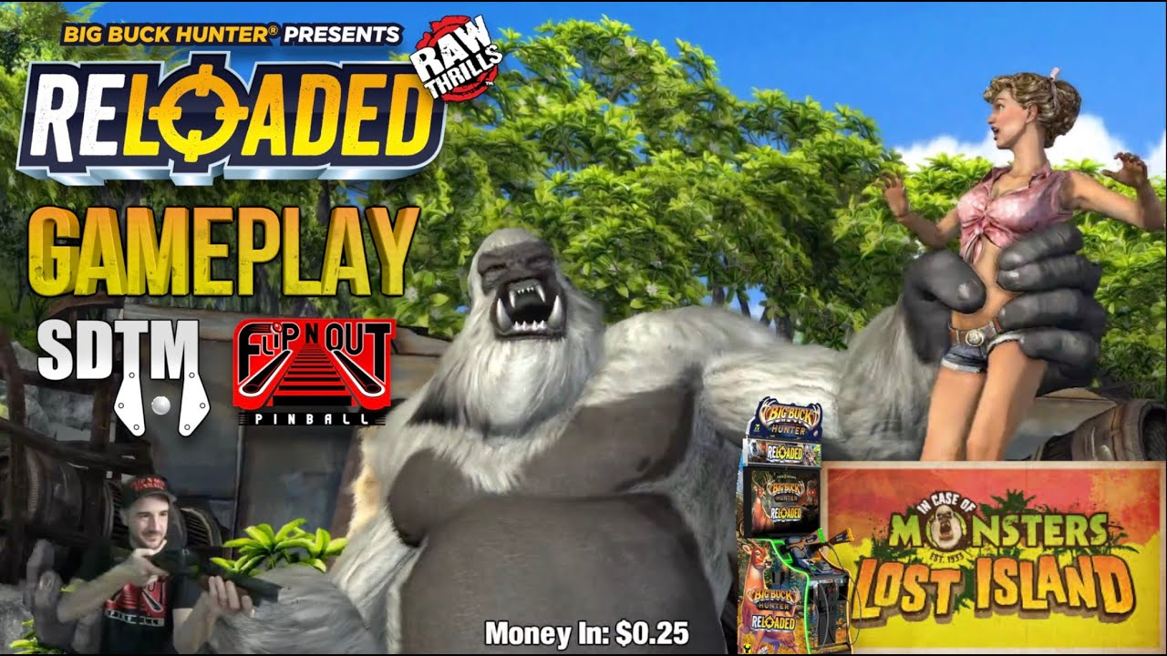 Gameplay: In Case Of Monsters - Lost Island Gameplay - Big Buck Hunter Reloaded (Raw Thrills, 2020)