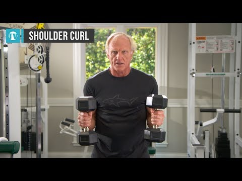 Greg Norman workout series – No.6 – Shoulder dumbbell curls