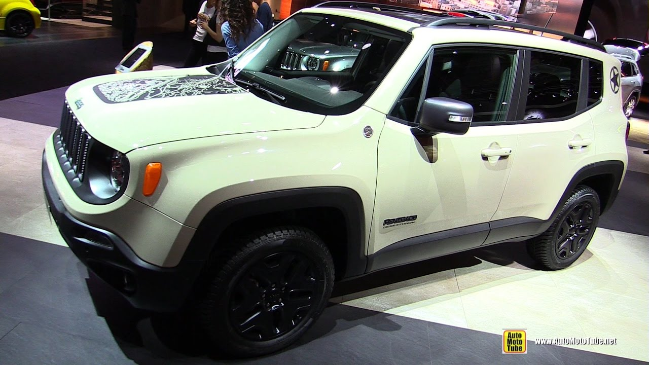 2017 jeep renegade desert hawk 2 0 diesel exterior and interior walkaround 2016 paris motor. Black Bedroom Furniture Sets. Home Design Ideas