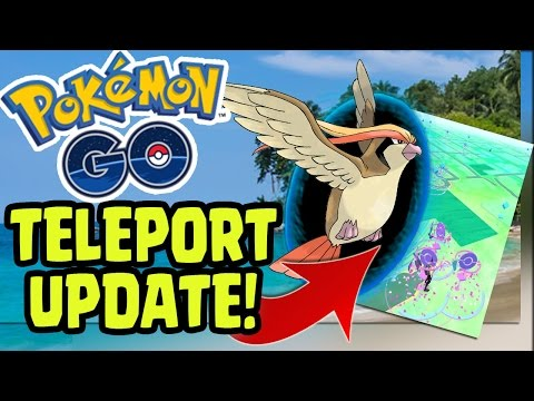 "POKEMON GO UPDATE! - TELEPORT ABILITY ""FLYING TO OTHER CITIES FOR POKESTOPS""  (Pokemon GO)"