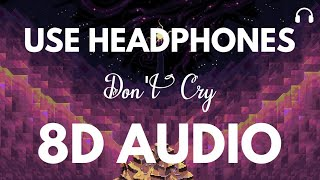 Lil Wayne ft. XXXTENTACION - Don't Cry (8D Audio)