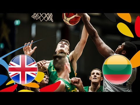 Great Britain v Lithuania - Full Game - FIBA U20 European Championship 2018