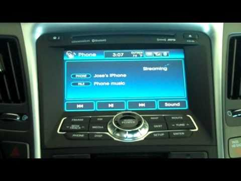 How to start streaming music from your iphone to 2011 Sonata SE via Bluetooth