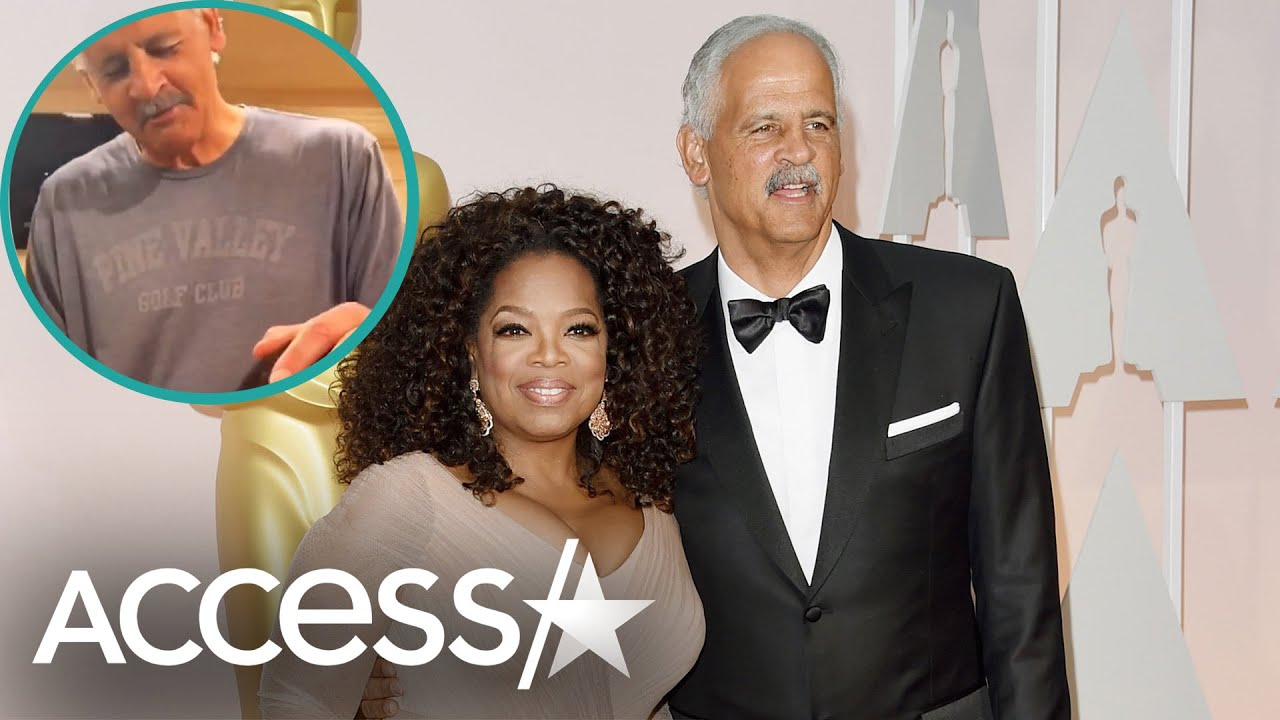 Oprah Watches As Stedman Gives His First Quarantine Haircut