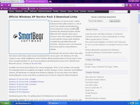 Kako download-ovati windows xp service pack 3 (SP3)