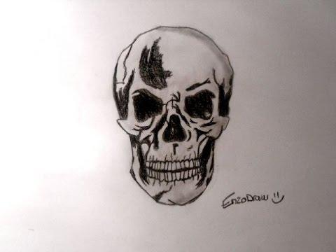 dessiner une tte de mort speed drawing