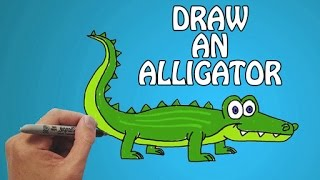 How To Draw An Alligator For Kids in Quick & Easy Steps | Basic Drawing Lessons For Kids