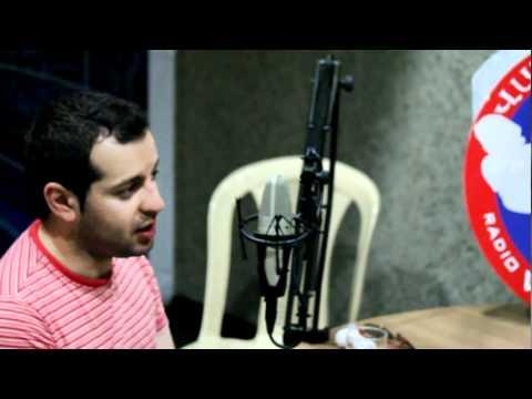 """""""Voice of Van"""" Radio station, Beirut, Lebanon, Karen Grigoryan"""