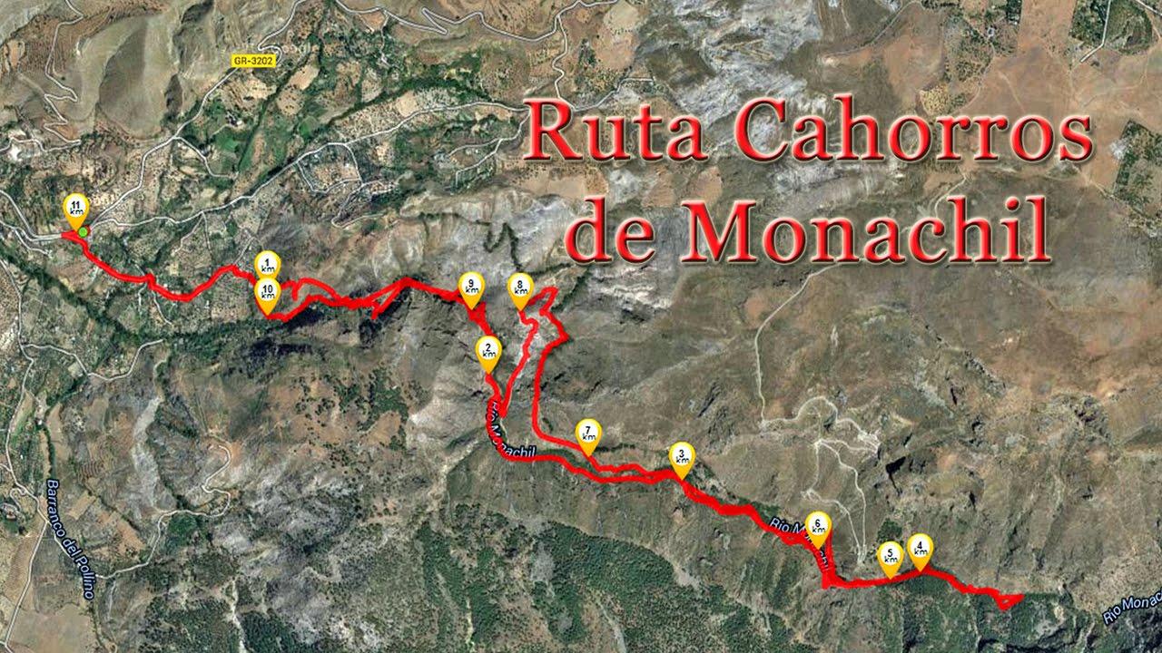 Los Cahorros Monachil Mapa.Ruta Cahorros De Monachil Granada Youtube