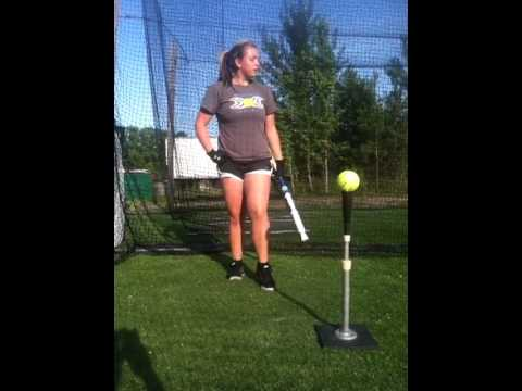Courtney Worsham (Nottoway High School) Softball Hitting Drills