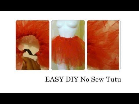 How to make a no sew tutu diy tutu easy youtube