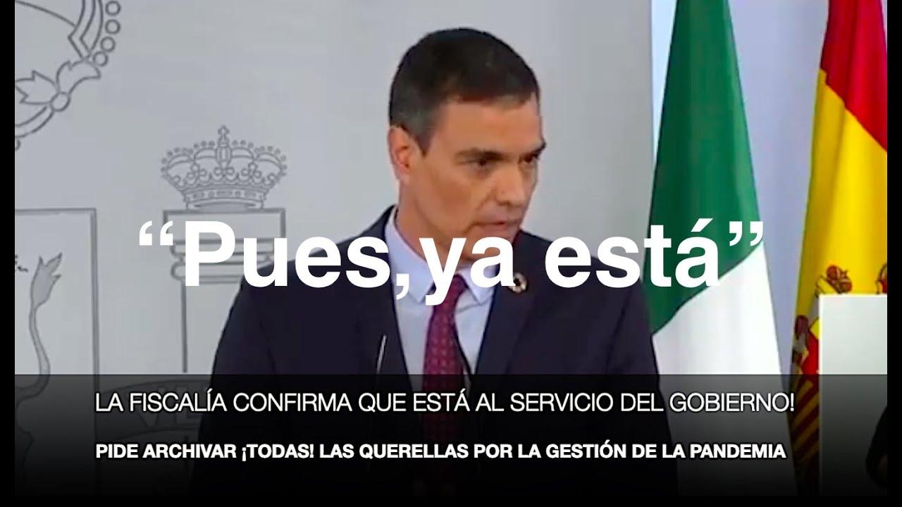 ¡TRAICIÓN DE LA FISCALÍA A LOS ESPAÑOLES!
