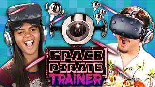 VR SPACE BATTLE! - Space Pirate Trainer - HTC Vive (Teens React: Gaming)