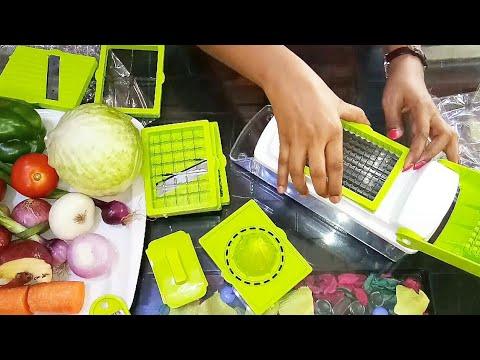 Vegetable And Fruit Chipser Review/All In One Dicer/Vegetable Fruit Slicer/Pealer/Grater