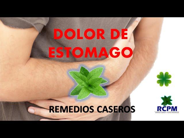 Dolor de estomago - Remedios caseros con plantas medicinales