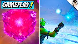 CUBE OPENING GAMEPLAY! Fortnite Loot Lake Island Event LIVE REACTION - Fortnitemares CUBE EXPLOSION!