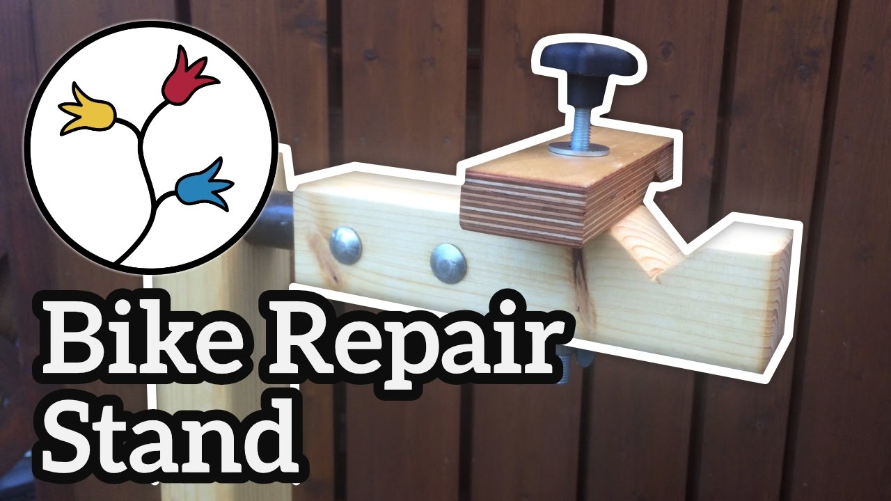 How To Build A Bike Repair Stand Youtube