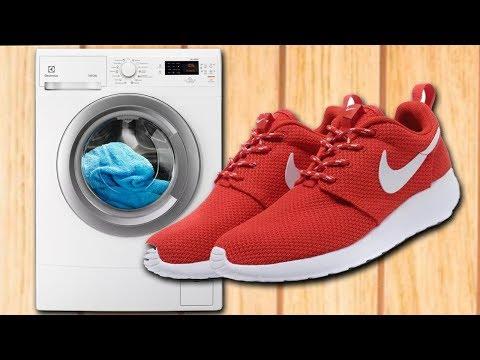 Как стирать кроссовки Nike в стиральной машине