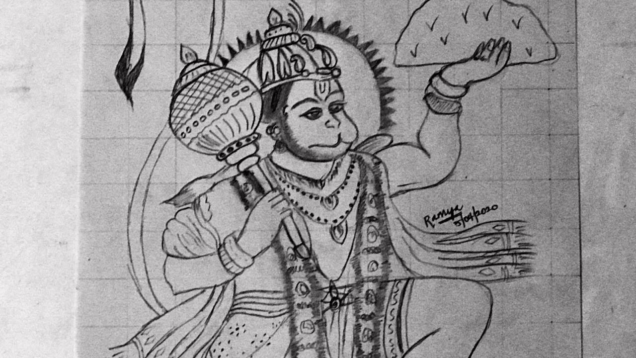 Hanuman Jayanthi Special Pencil Sketch    Hanuman Easy ...