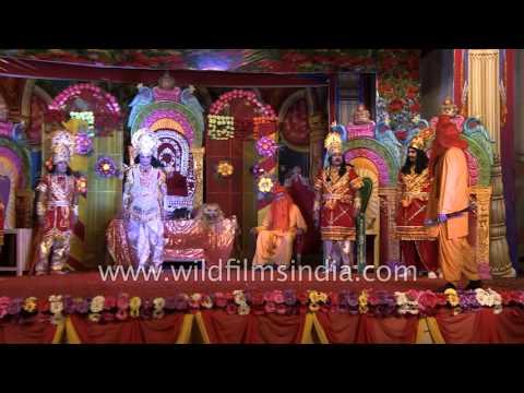 Raja Dashrath speaks about his four sons : Shri Shraddha Ramlila, Faridabad