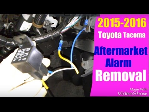 2015 2016 toyota tacoma aftermarket alarm removal youtube basic fire alarm wiring 2015 2016 toyota tacoma aftermarket alarm removal