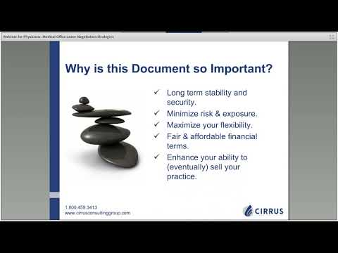Webinar: Negotiating the Terms and Rent in Your Medical Office Lease | Cirrus Consulting Group