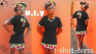 D.I.Y/How-to, tshirt dress with african print (tutorial)