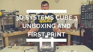 3D Systems Cube 3 Unboxing and First Print