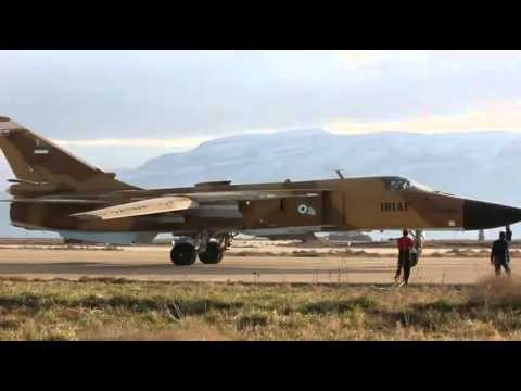 Iranian Air force Sukhoi Su-24MK gets ready for take off