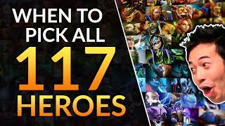 When to Pick EVERY HERO IN DOTA - 117 Drafting Tips (ALL HEROES) | Dota 2 Meta Guide