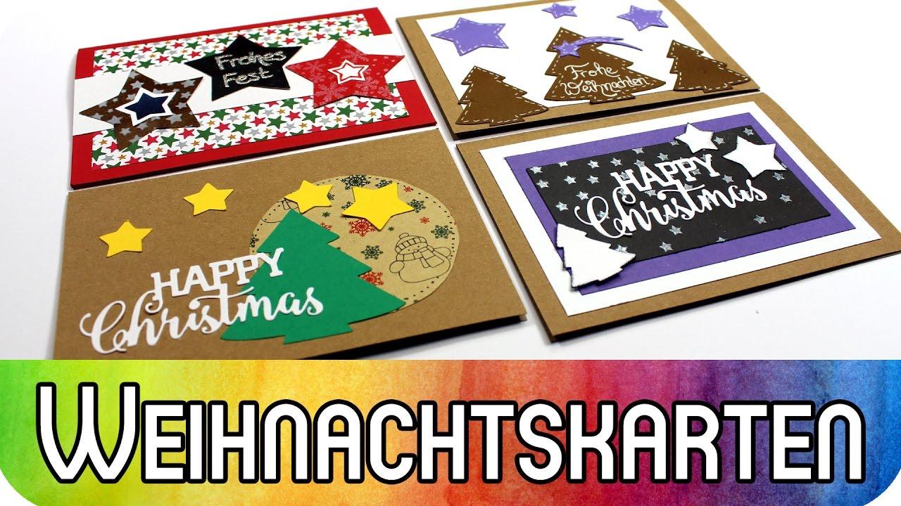 Einfache Weihnachtsgrüße.Weihnachtskarten Gestalten Einfache Kreative Ideen Zur Kartengestaltung Für Weihnachten