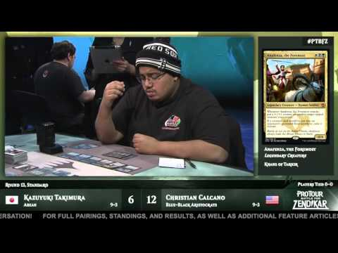 Pro Tour Battle for Zendikar Round 13 (Standard): Christian Calcano vs. Kazuyuki Takimura