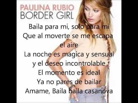Baila casanova--Paulina Rubio