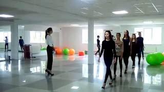 Фрагмент урока дефиле, Покровск, GRANI MODELS. Курс Fashion Model.