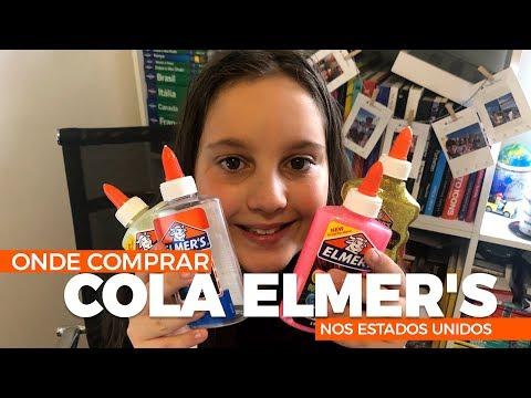 Cola Elmers, onde comprar nos Estados Unidos. A gente ama elmers para fazer Slime.